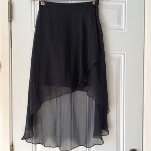 ELIZABETH AND JAMES SZ 0 Skirt High Low Mini